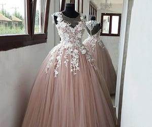 pink dress, dresses, and evening dress image
