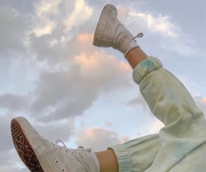 aesthetic, clouds, and shoes image