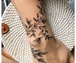 leaves, tattoo, and vine image