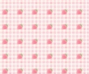 aesthetic, strawberry, and wallpapers image