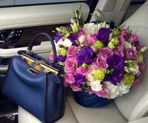 beautiful, bouquet, and purple image