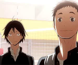 anime boys, gif, and haikyuu image