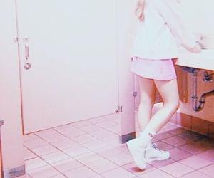 adidas, bathroom, and pink image