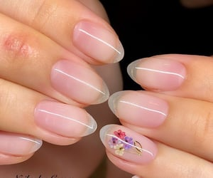 aesthetic, flower, and manicure image