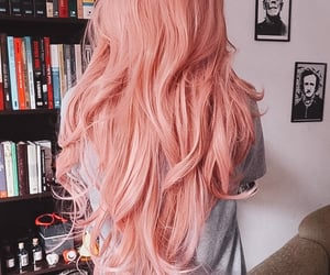 aesthetic, hair pink, and books image