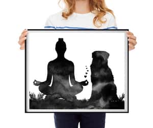 australian shepherd, etsy, and yoga pose image