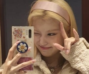 blonde hair, icon, and kpop image
