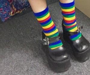 aesthetics, rainbow, and socks image