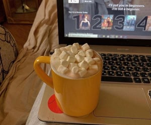 beverage, laptop, and delicious image