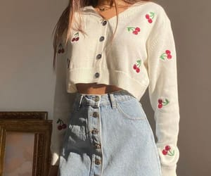 fashion, outfit, and cherry image