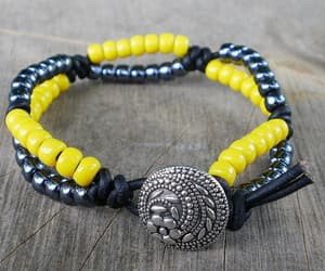 handmade, wrapped bracelet, and forhim image