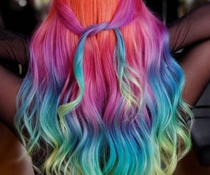 colored hair and hair image