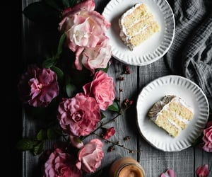 cakes, floral, and food image