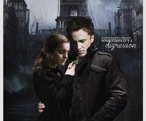 draco malfoy, hermione granger, and tom felton image