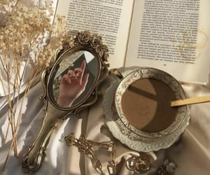art, book, and mirror image
