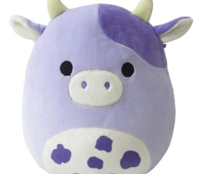 baby, squishmallows, and cow image