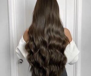 brown, girl, and hair image