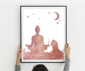 etsy, cavalier king charles, and yoga pose image