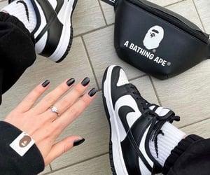 bape, black and white, and fashion image