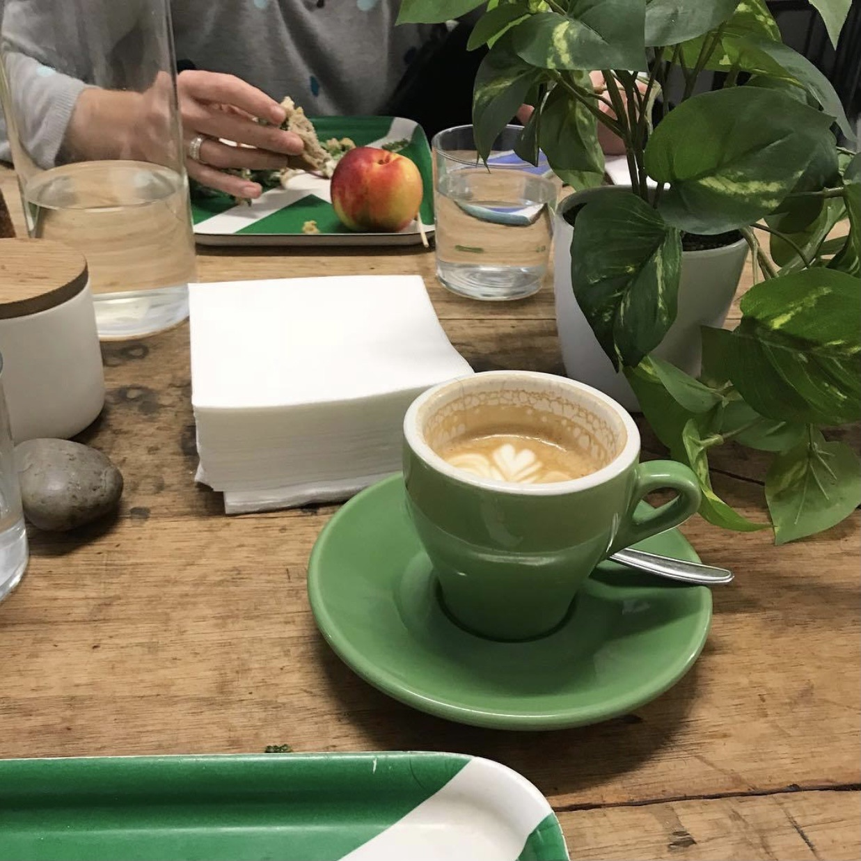 coffee, green, and theme image