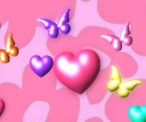 aesthetic, cyber, and hearts image