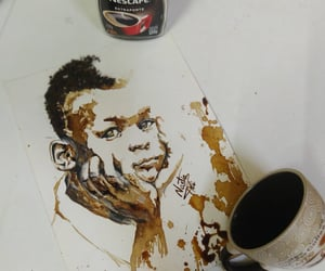 coffee, coffee art, and قهوة image