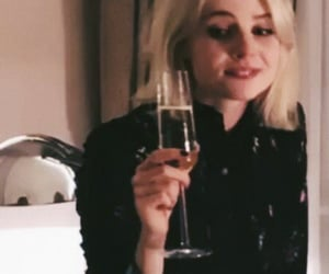 fashion, lucy boynton, and drink image