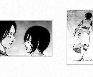 anime, anime girl, and black & white image
