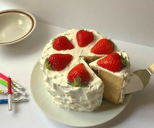 birthday, food, and fraise image