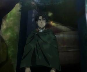 anime, attack on titan, and levi ackerman image