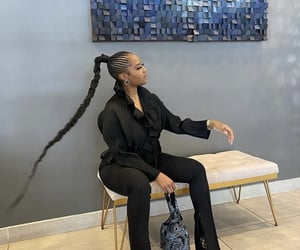 bags, braids, and hair image
