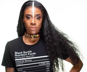African, choker, and makeup image
