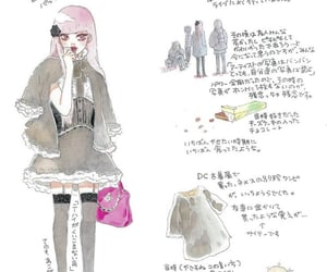 fashion, doodle, and drawing image