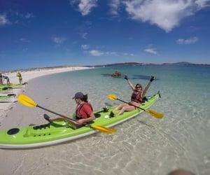 holiday, kayaking, and europe image