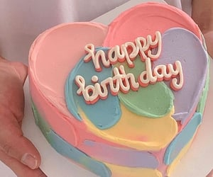 cake, happy birthday, and pastel image