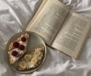 food, banana, and book image
