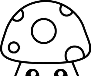 illustration, coloring, and mushroom image