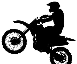 dirt bike and silhouette image