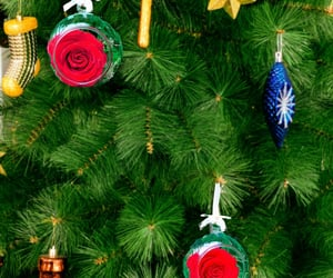 christmas decorations and christmas baubles image