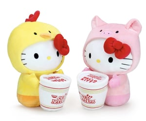 hello kitty and plushie image