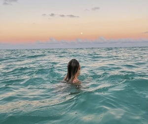 beach, sunset, and travelling image
