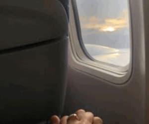 boyfriend, flight, and holdinghands image