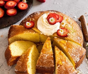 cake, fruit, and delicious image