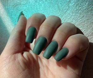 long nails, makeup, and matte image