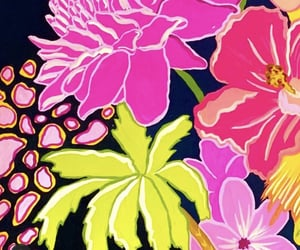 bright, fuschia, and floral image