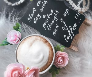 beverage, coffee, and flowers image