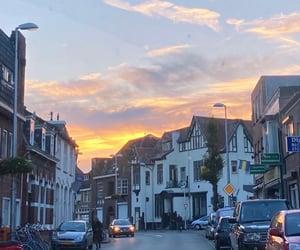 holland, netherlands, and sunset image