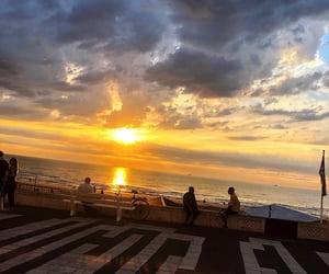 beach, beautiful, and peace image