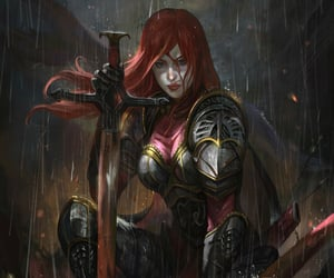 beautiful, fighter, and redhead image