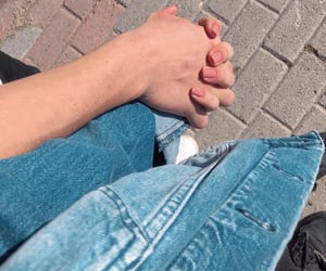 blue, hands, and heart image